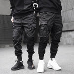 Men's Black Cargo Pants - Mens Apparel - COSSTO
