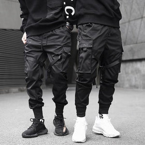 Men's black street cargo pants - Mens Apparel - COSSTO