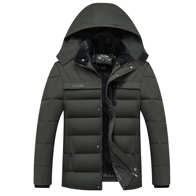 Men's Hooded Winter Coat - Mens Apparel - COSSTO