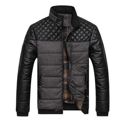 Men's Patchwork Winter Jacket - Mens Apparel - COSSTO