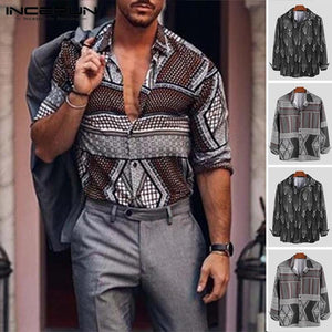 Men's Shirt with a pattern - Mens Apparel - COSSTO