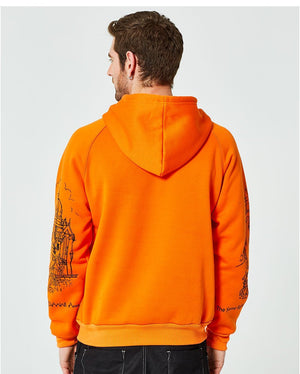 Men's Street Hoodie in black, blue, orange - Mens Apparel - COSSTO