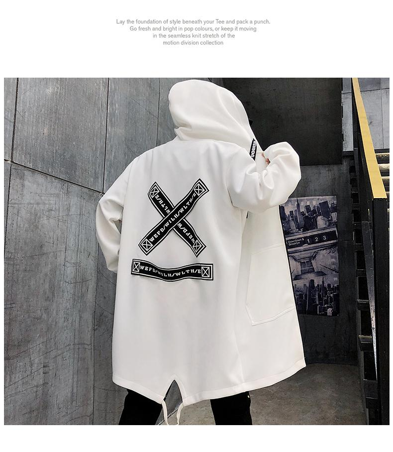Men's Streetwear hoodie with a pattern - Mens Apparel - COSSTO