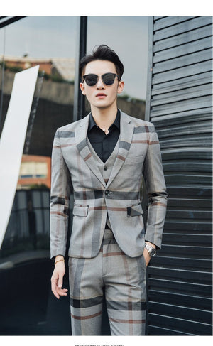 Mens Suit (Jacket + Pants + Vest) - CoSStO
