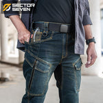Men's Tactical Blue Black Jeans - Mens Apparel - COSSTO