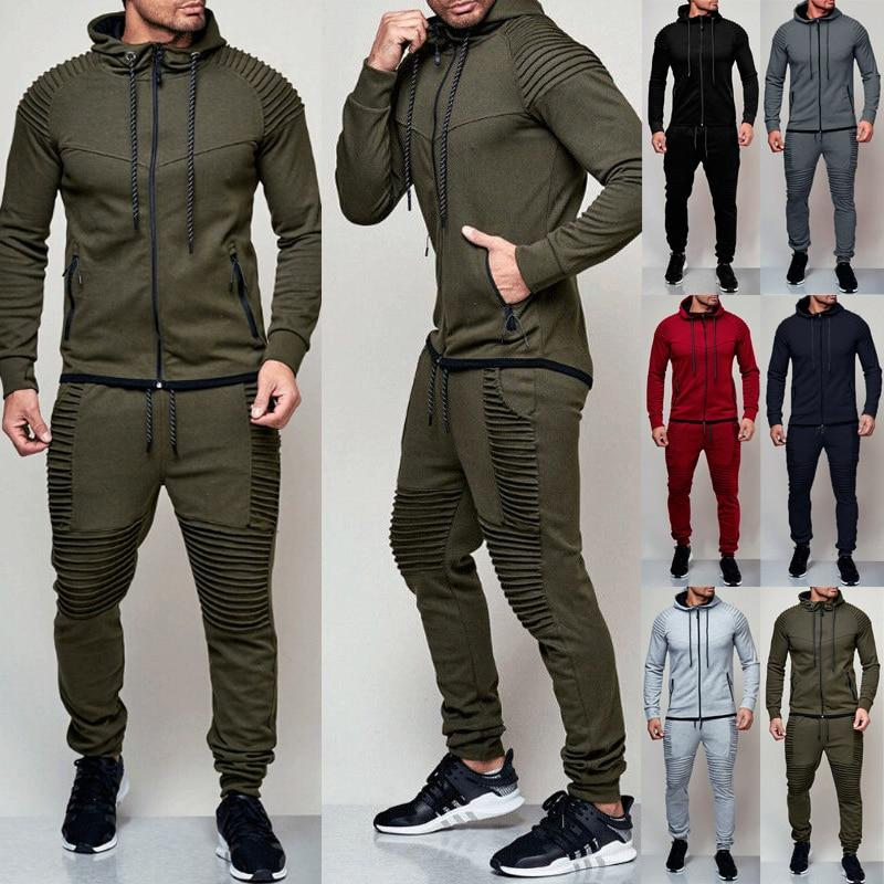 Men's tracksuit in black, red, green, light grey, dark grey - Mens Apparel - COSSTO