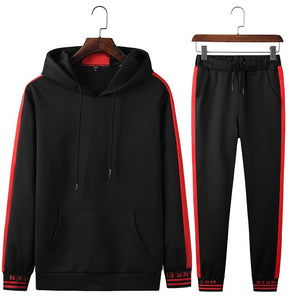 Men's Tracksuit in black, white, red - Mens Apparel - COSSTO