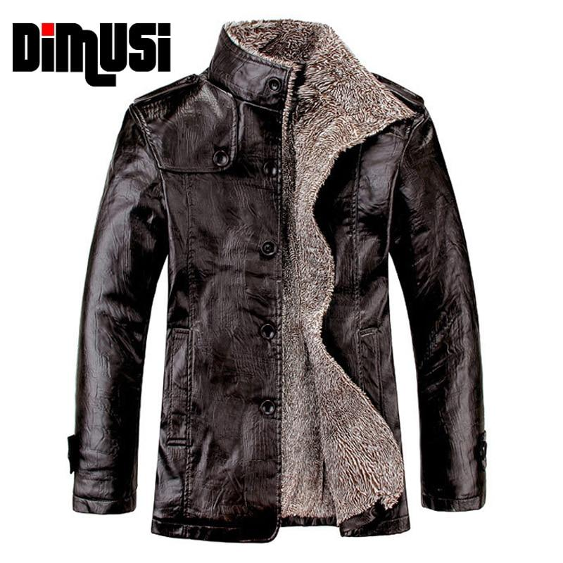 Men's winter leather jacket in black, dark brown, light brown - Mens Apparel - COSSTO