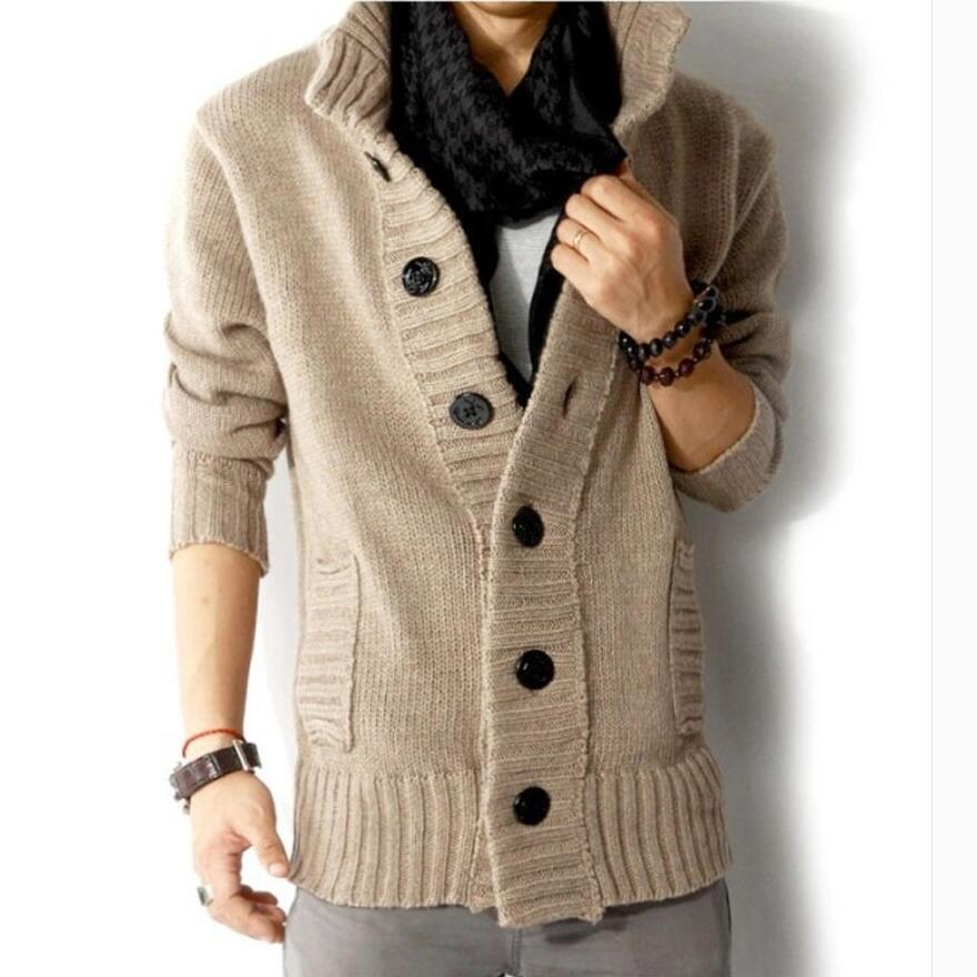 Mens wool sweater pullover in black, cherom, blue, beige - Mens Apparel - COSSTO