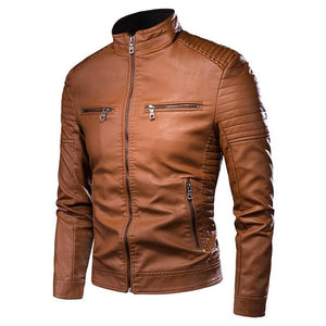 Motorcycle Vintage Leather Jacket - Mens Apparel - COSSTO