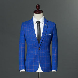 Plaid Men's Blazer - Mens Apparel - COSSTO