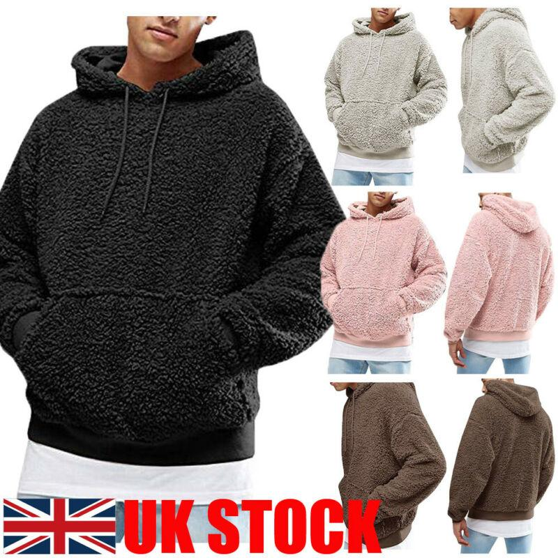 UK Mens Fleece Hooded Pullover in black, grey, pink, coffee - Mens Apparel - COSSTO