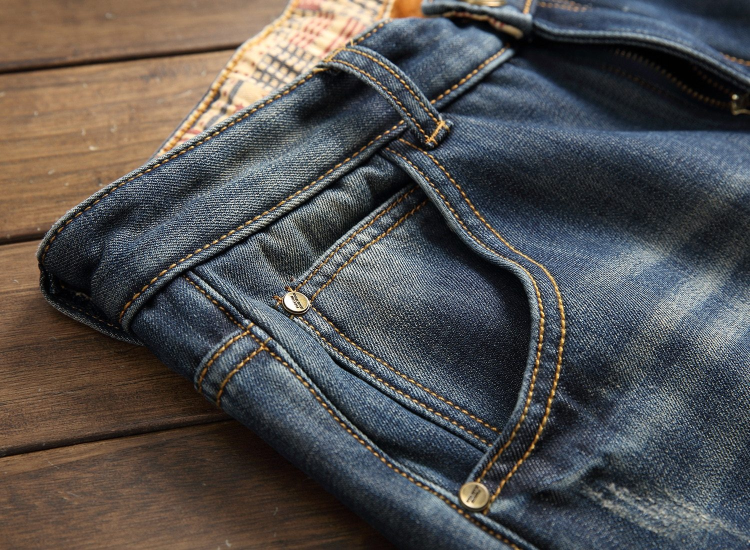 Men's designer Jeans with holes - Mens Apparel - COSSTO