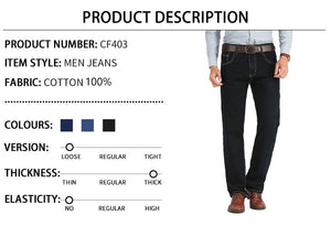 Men's Business Classic Jeans in black, blue, dark blue - Mens Apparel - COSSTO