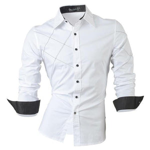 Men's Long Sleeve Slim Fit Shirts - Mens Apparel - COSSTO
