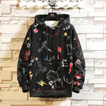 Street Hoodie with a pattern - Mens Apparel - COSSTO
