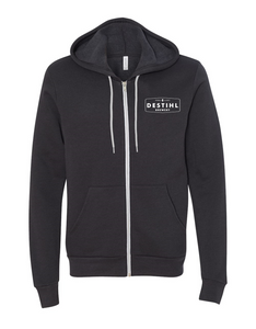 Dark Grey Hoodie - Full Zip