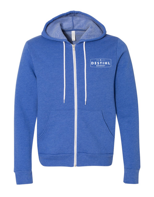 Heather Royal Hoodie - Full Zip