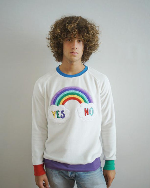 Sudadera YES NO Blanca