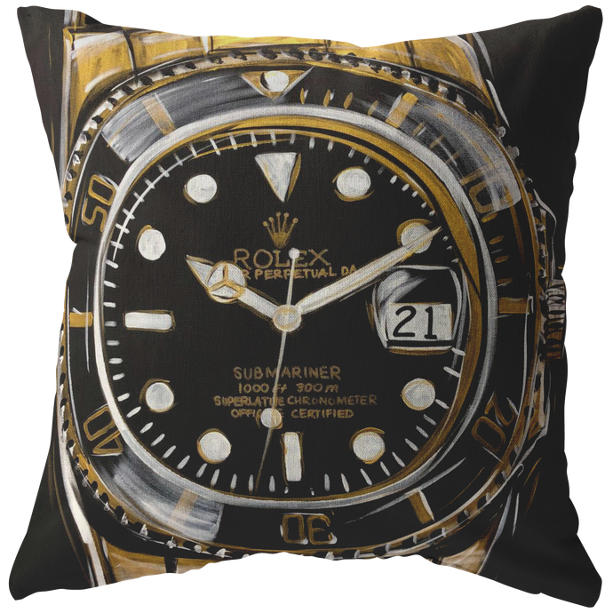 Gold Rolex Submariner Pillow