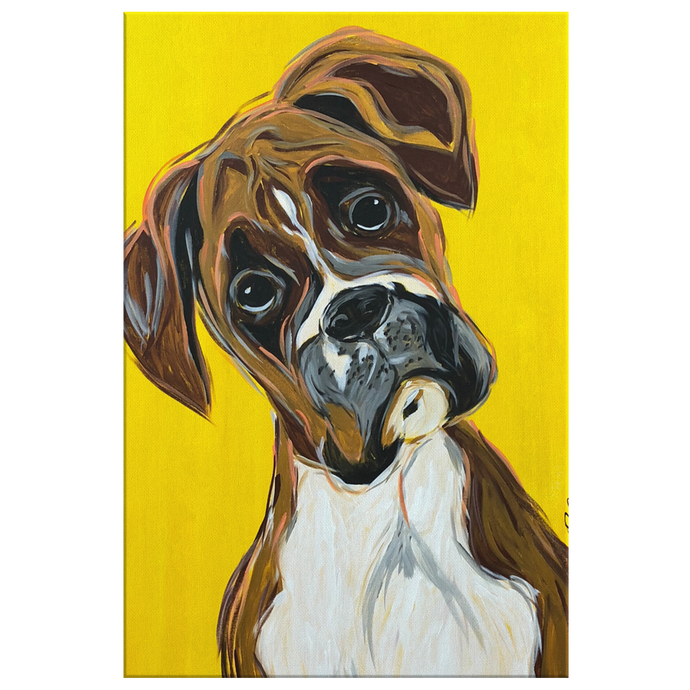Boxer Print on Canvas