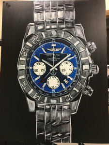 breitling watch painting wall art