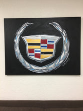 Load image into Gallery viewer, Cadillac logo Original Painting