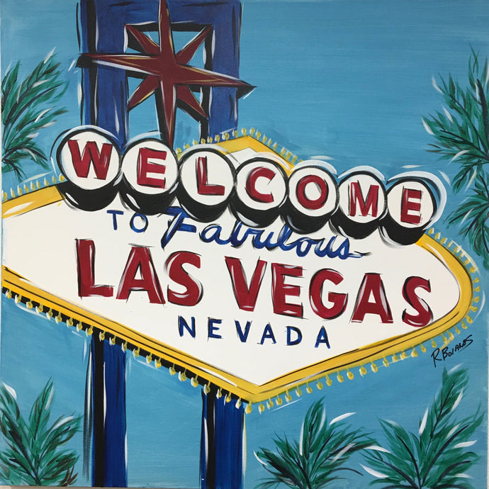 Fabulous Las Vegas Sign Original Painting