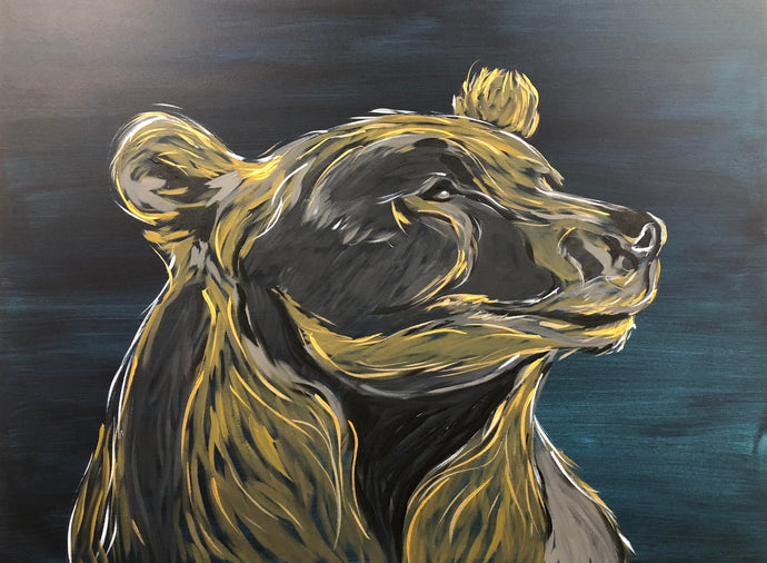 Golden Bear Original Painting