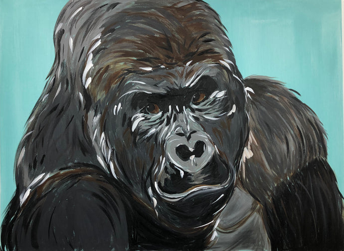 Silver Back Gorilla Original Painting