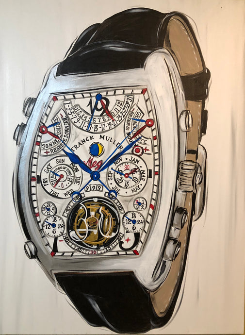 Franck Muller Mens Watch Original Painting