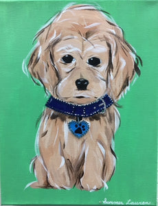 Cocker Spaniel Puppy Original Painting