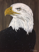 Load image into Gallery viewer, Eagle Eye, American Bald Eagle Original Painting