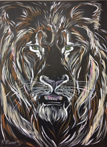 Fierce Leader2, Lion Original Painting