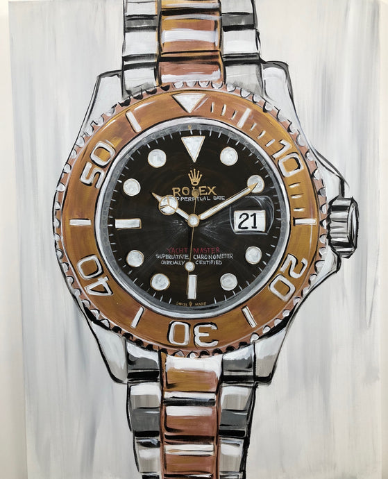 Rolex Mens Gold and Stainless Original Painting