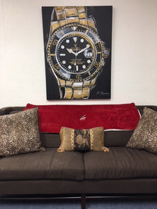 Rolex, Mens Watch, Gold Submariner Original Painting