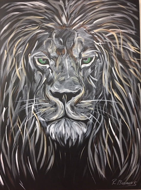 Lion, The Leader Original Painting