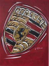 Load image into Gallery viewer, porsche logo wall art