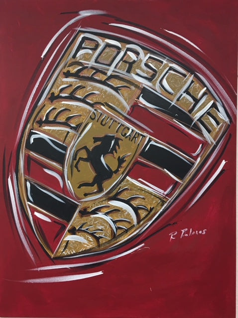 porsche logo wall art