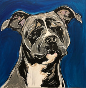 Proud Rotty Original Painting