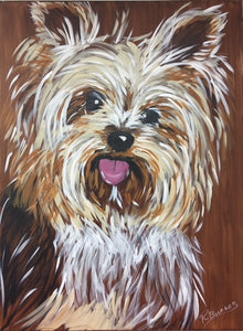 Yorkie Terrier 2 Original Painting