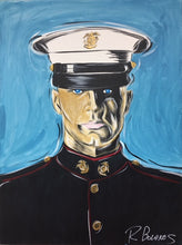Load image into Gallery viewer, US Marine Dress Blue painting wall art