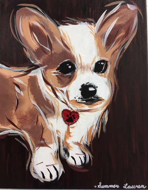 Corgi Puppy Original Painting