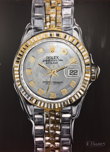rolex watch painting wall art