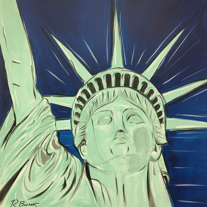 Lady Liberty, Freedom Original Painting