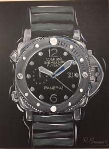 Paneri Mens Watch Original Painting