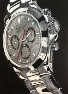 Rolex White Gold Daytona Original Painting