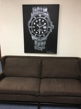 Load image into Gallery viewer, Rolex Submariner Black Face Original Painting