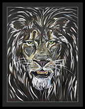 Load image into Gallery viewer, A Fierce Leader, lion - Framed Print