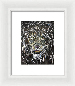 A Fierce Leader, lion - Framed Print
